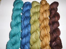 Manos del Uruguay Fino mini skeins set of 5